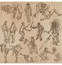 Warriors - an hand drawn pack vector