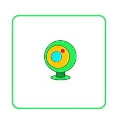 Webcam icon simple style vector