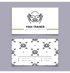 Yoga trainer business card template vector