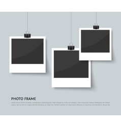 Background with old style photo frames vector image vector image