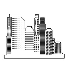 New york cityscape icon vector