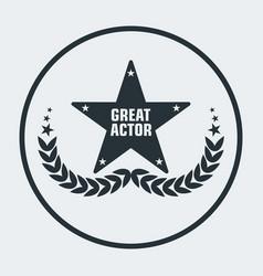cinema awards actor star vector image vector image