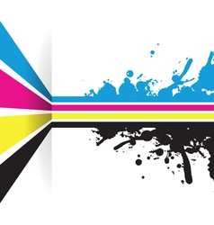 cmyk strip background vector image vector image