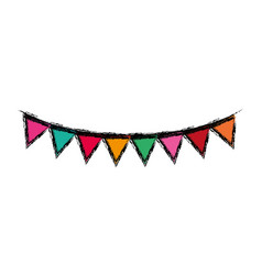 decorative party pennants vector image vector image