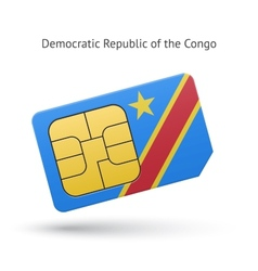 Democratic Republic of the Congo phone sim card vector image