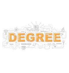 design concept of word degree website banner vector image