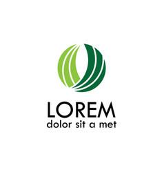 Green circle abstract logo vector