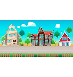 Houses Background01 vector image vector image