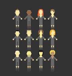 people collection vector image vector image
