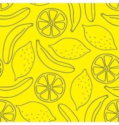 Seamless pattern of bananas and lemons vector image vector image