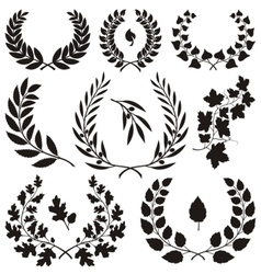 wreath icons vector image vector image