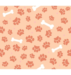 background animal footprints vector image