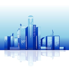 city tower night vector image vector image