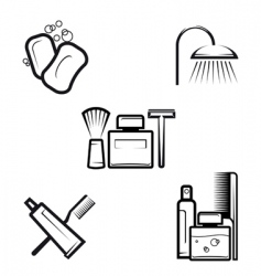 hygiene objects vector image