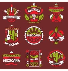 Mexican food grunge rubber stamps vector image vector image