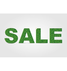 Sale grass word vector image