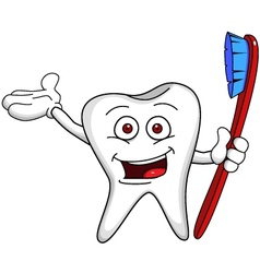 tooth character vector image