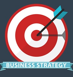 Business strategy concept Flat design stylish vector image vector image