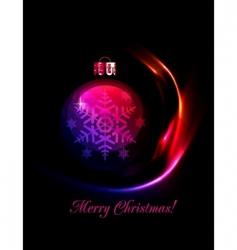 Christmas decoration stylized ball vector image