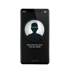 facial recognition system on smartphone concept vector image vector image
