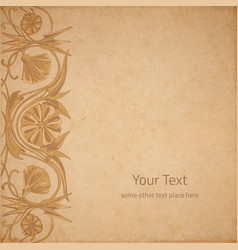 flower parchment background vector image vector image