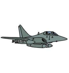 Gray jet fighter vector