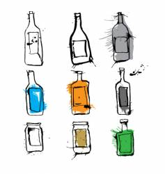 ink bottles and jars vector image vector image