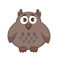 Owl funny cartoon character Cute icon vector image vector image