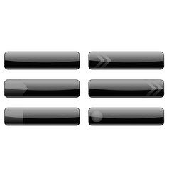 website black menu buttons vector image