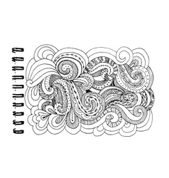 Abstract hand drawn ornament background for your vector image