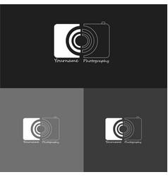 Abstract photographer logo vector