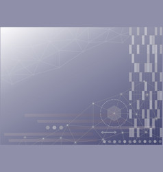 abstract technology science web background vector image