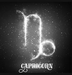 abstract zodiac sign capricorn vector image