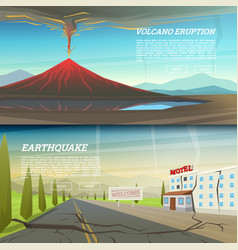 Active volcano eruption with leaky magma vector
