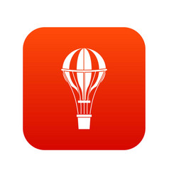 Air balloon journey icon digital red vector