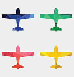 Airplane icon abstract triangle vector