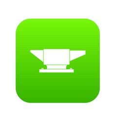 anvil icon digital green vector image