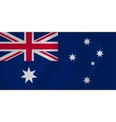 Australia waving flag vector