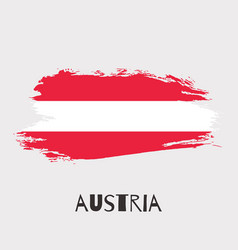 austria watercolor national country flag icon vector image