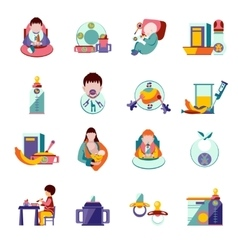 Baby Feeding Icons vector image