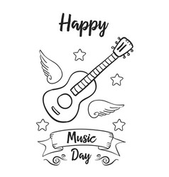 Background music day hand draw collection vector