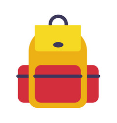 backpack rucksack for school students travellers vector image