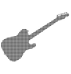 black dot rock guitar silhouette vector image