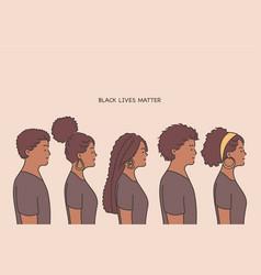 black lives matter lettering human rights of vector image