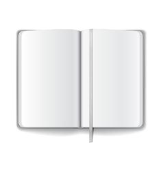 Blank opened magazine template vector