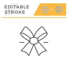 bow editable stroke line icon vector image