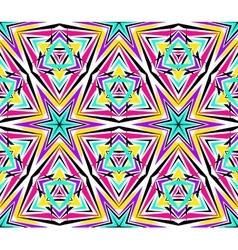 Bright Kaleidoscope Star Pattern vector image
