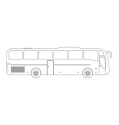 bus flat icon and logooutline vector image