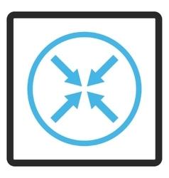 Center Arrows Framed Icon vector