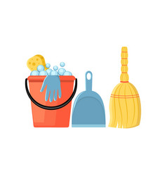 cleaning set in a flat style vector image